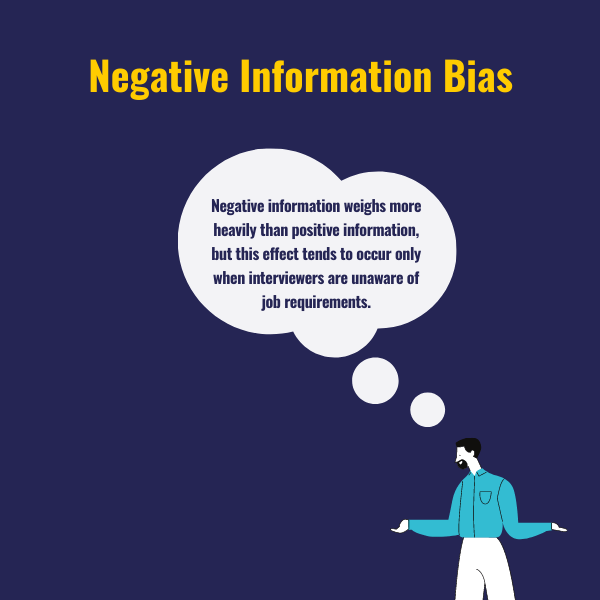 Negative information bias and human with hands from an evidence based guide to hiring interviews